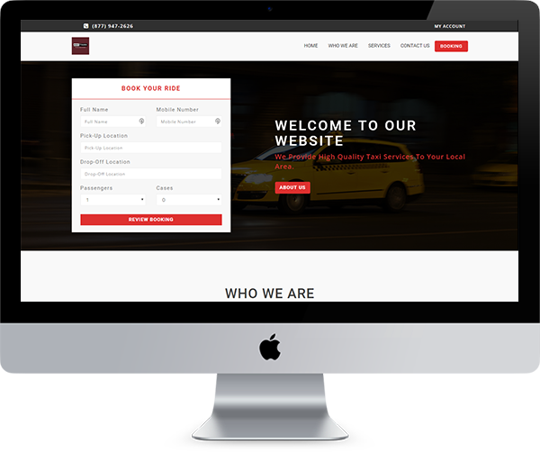 Taxi, Cab, Fleet Management Dispatch System free website template